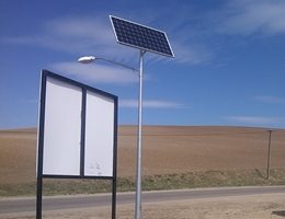 Lampa solarna LED - Wielki Podleś (gm. Kościerzyna)