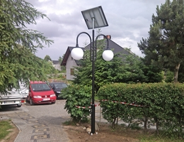 Solarna lampa LED - Cewice