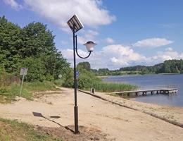 Solarna lampa parkowa - Dywity