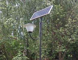 Lampa solarna parkowa - Dywity