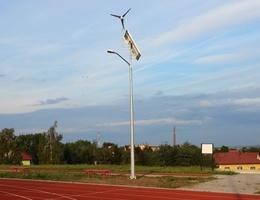 Lampa solarna hybrydowa - Łagiewniki