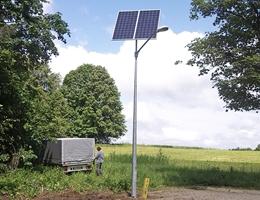 Lampa solarna uliczna - Pozezdrze