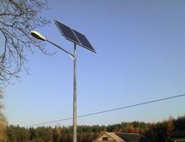 Lampa solarna - Czarna Dąbrówka